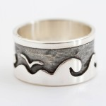 Beside the sea personalised silver ring