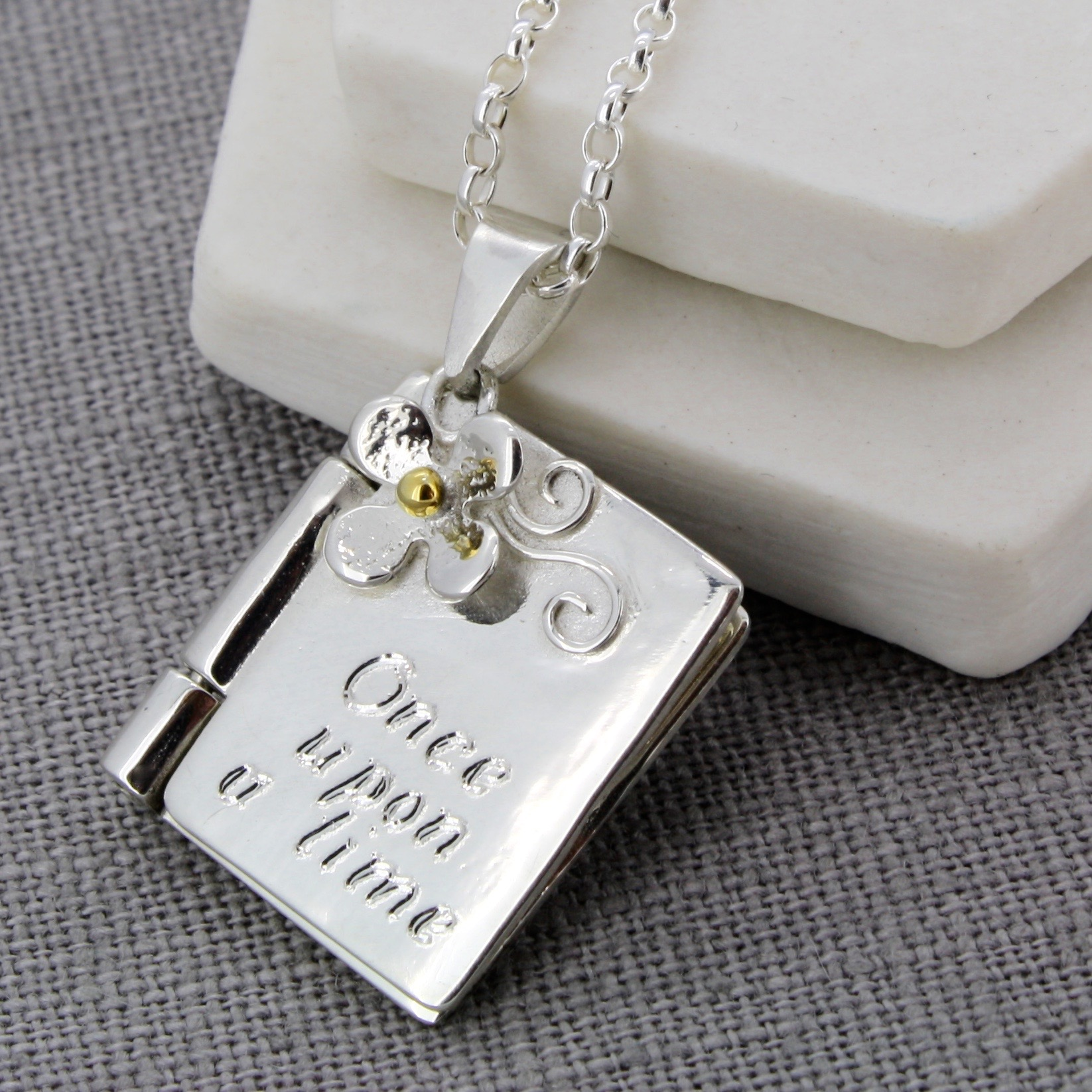 Silver Christening locket