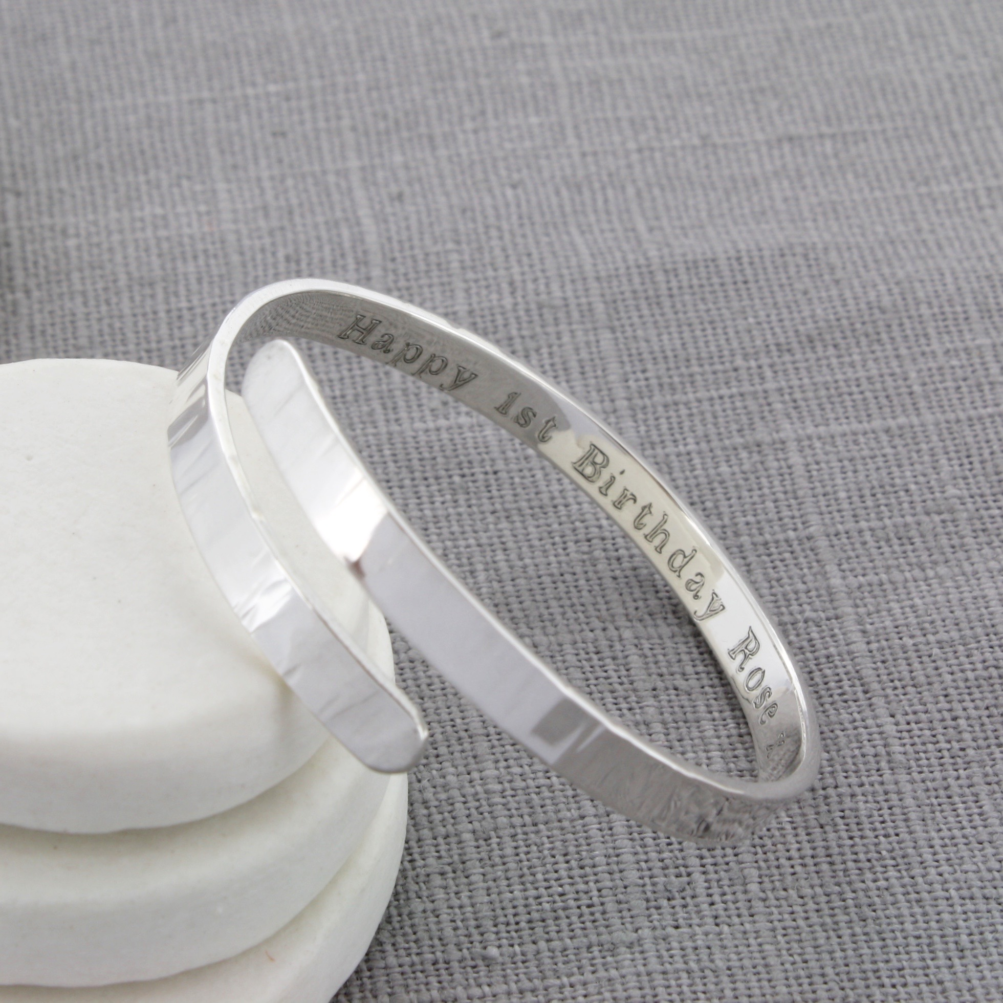boy's personalised Christening bangle