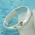 Man's Hammered silver personalised ring