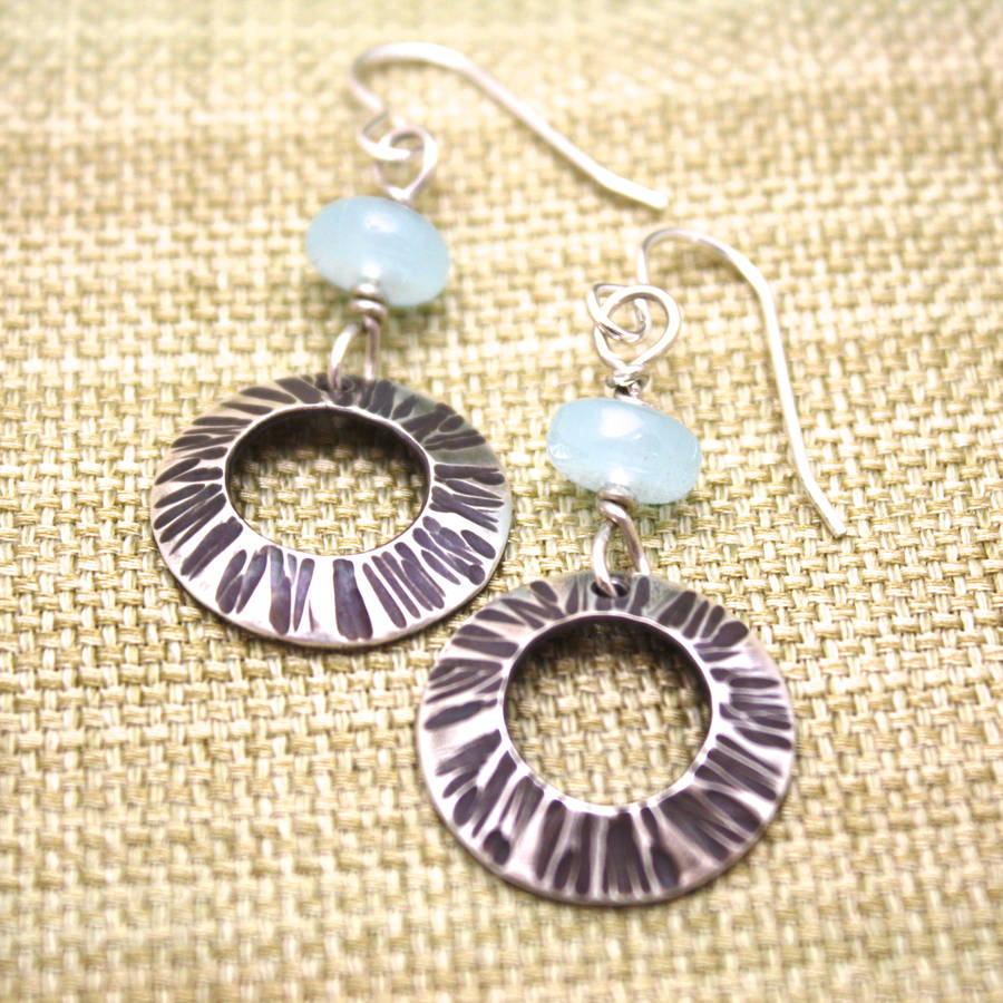 Cornish Silver Shells Earrings Carole Allen Jewellery