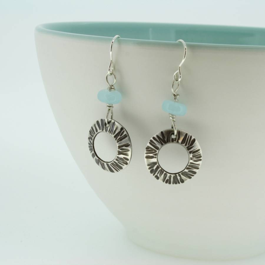 Cornish seashell earrings