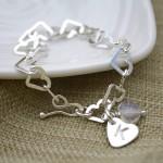 personalised girl's silver bracelet