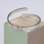 baby Christening bangle with gold heart