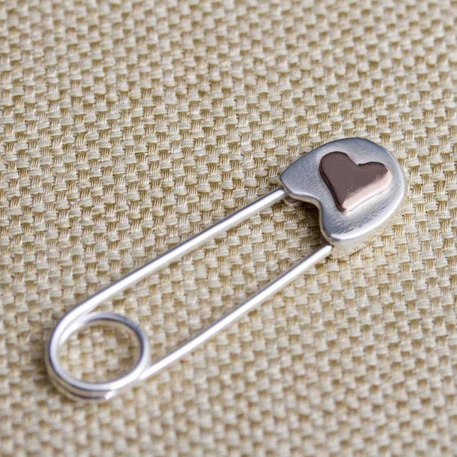 Mother S Day Safety Pin Brooch Carole Allen Jewellery