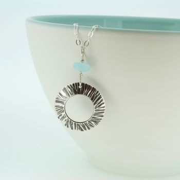 personalised silver Cornish sea shell pendant