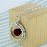 cranberry pearl personalised pendant