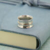 Silver and gold contemporary ring