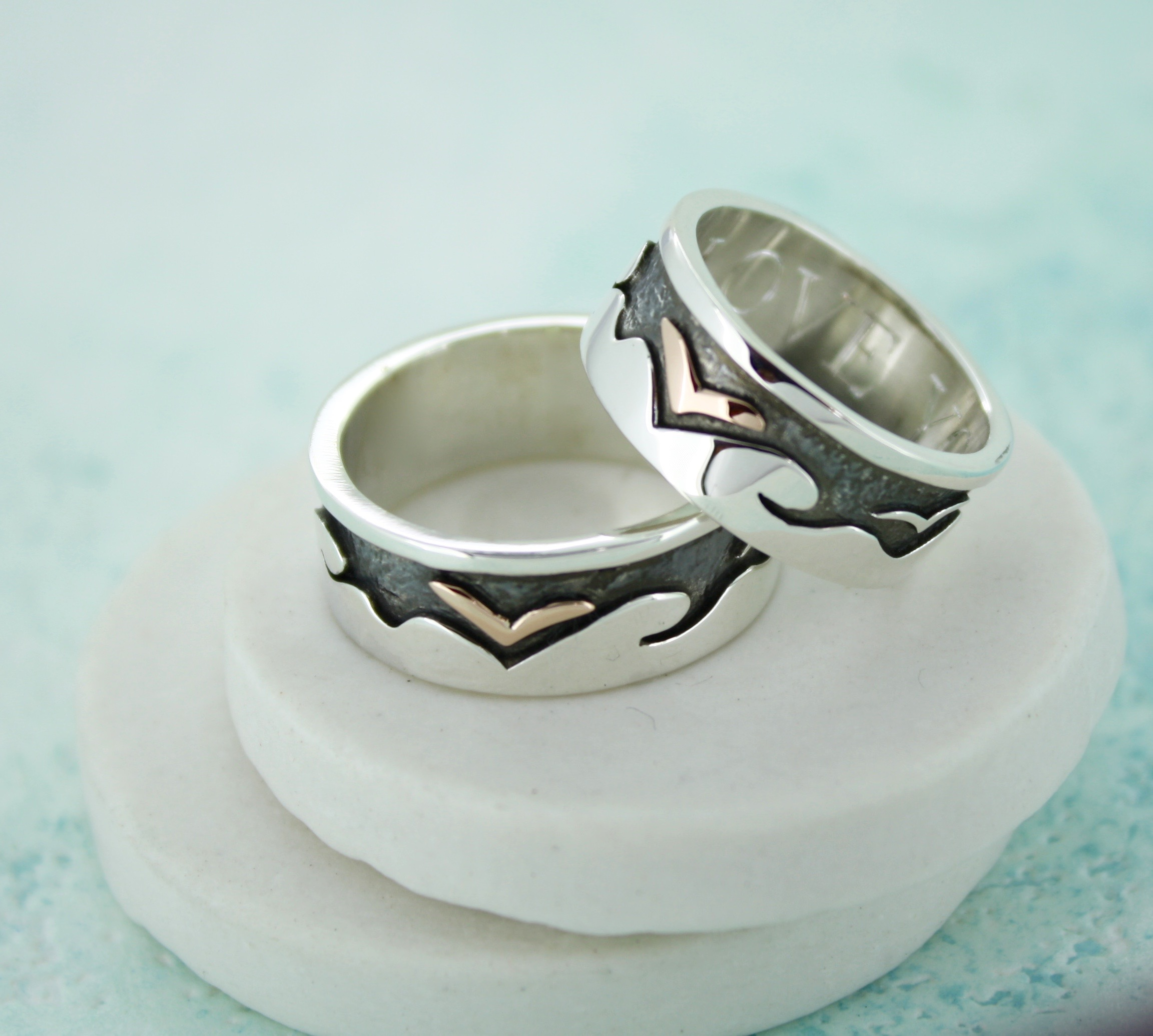 personalised seagull ring