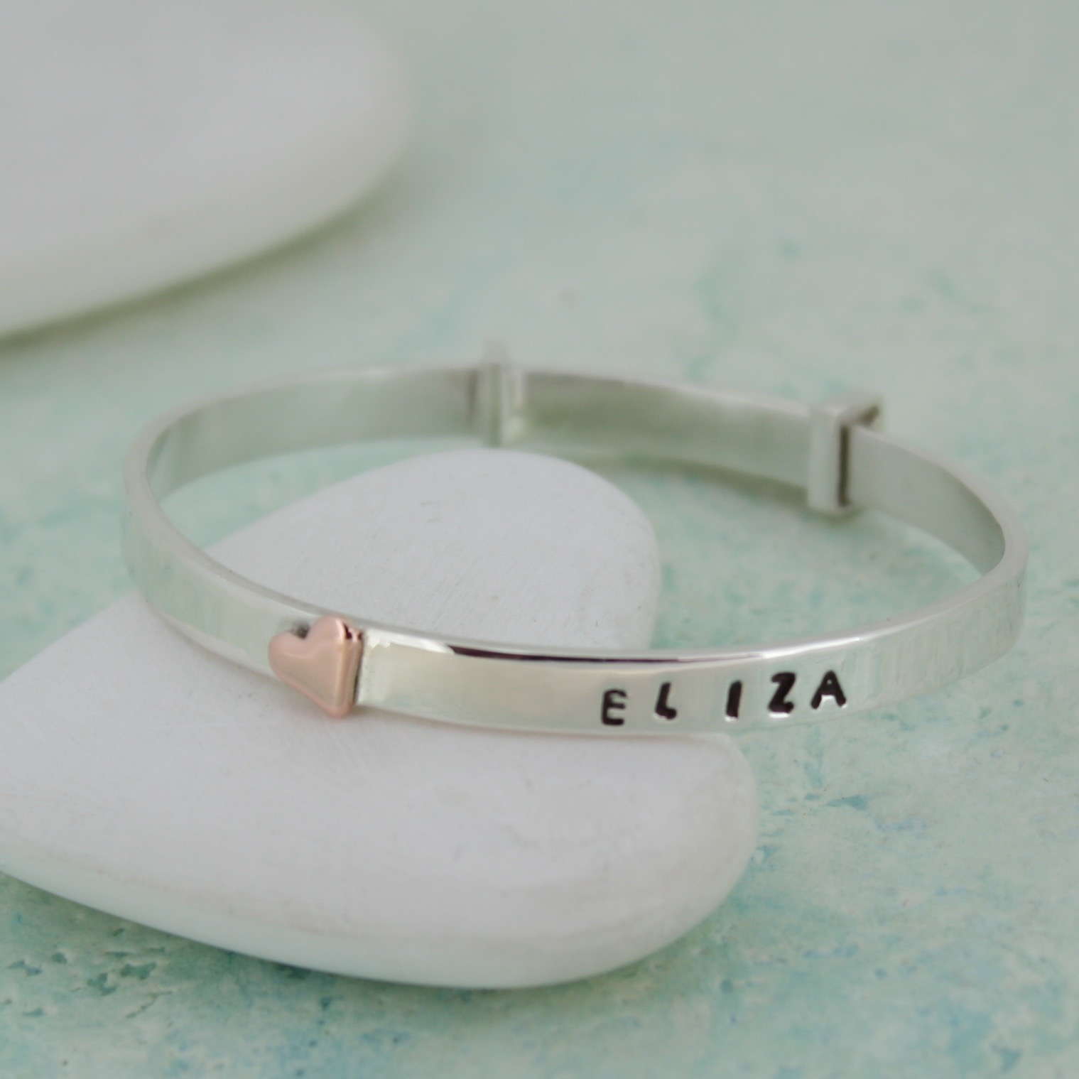 personalised handmade baby bangle