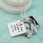 personalised photo locket with gold heart