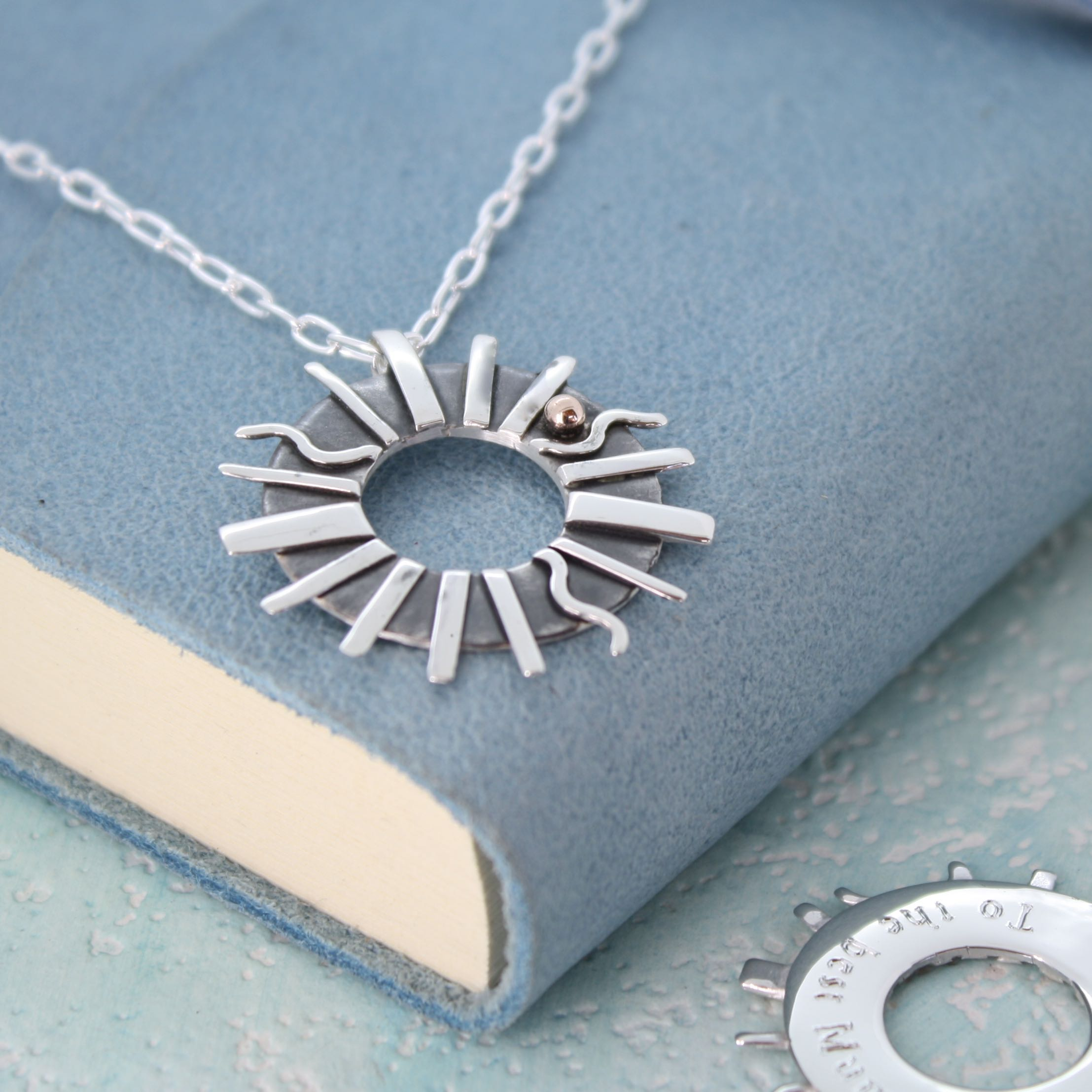 Personalised sun ray necklace