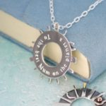 Personalised sunray necklace