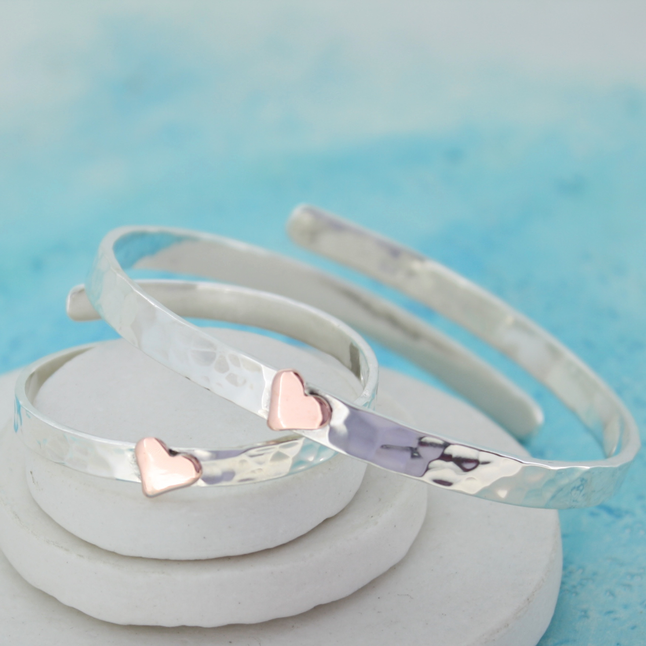 Mummy and baby personalised bangles
