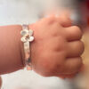 baby bangle with daisy
