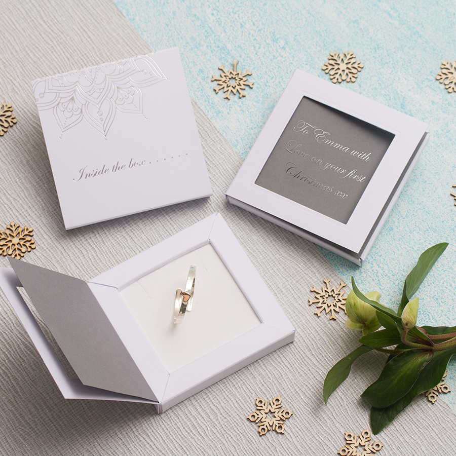 Baby\'s First Christmas Bangle with Personalised Greetings Box ...