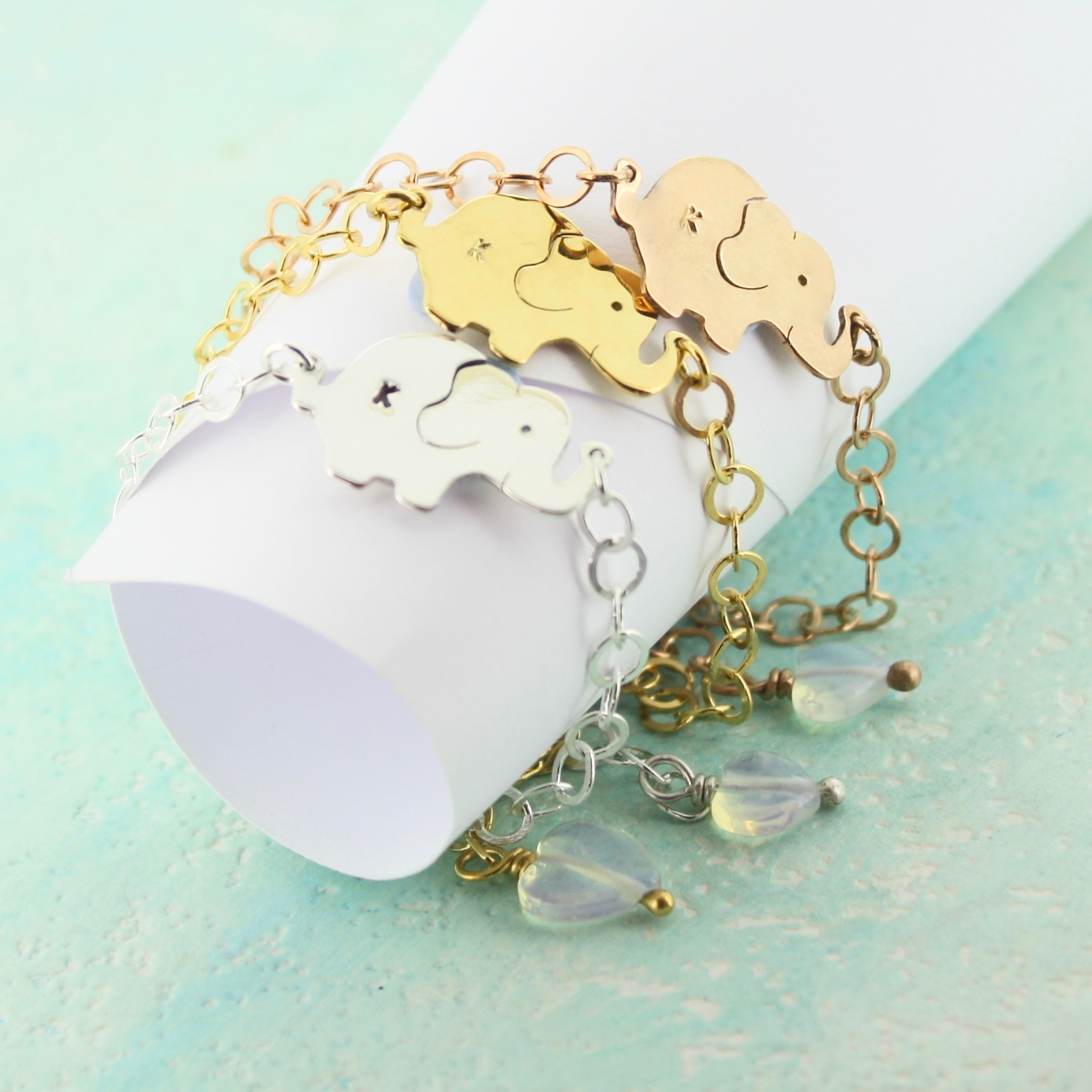 PersonalisedBaby elephant bracelet