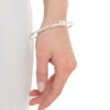 silver bangle with daisy