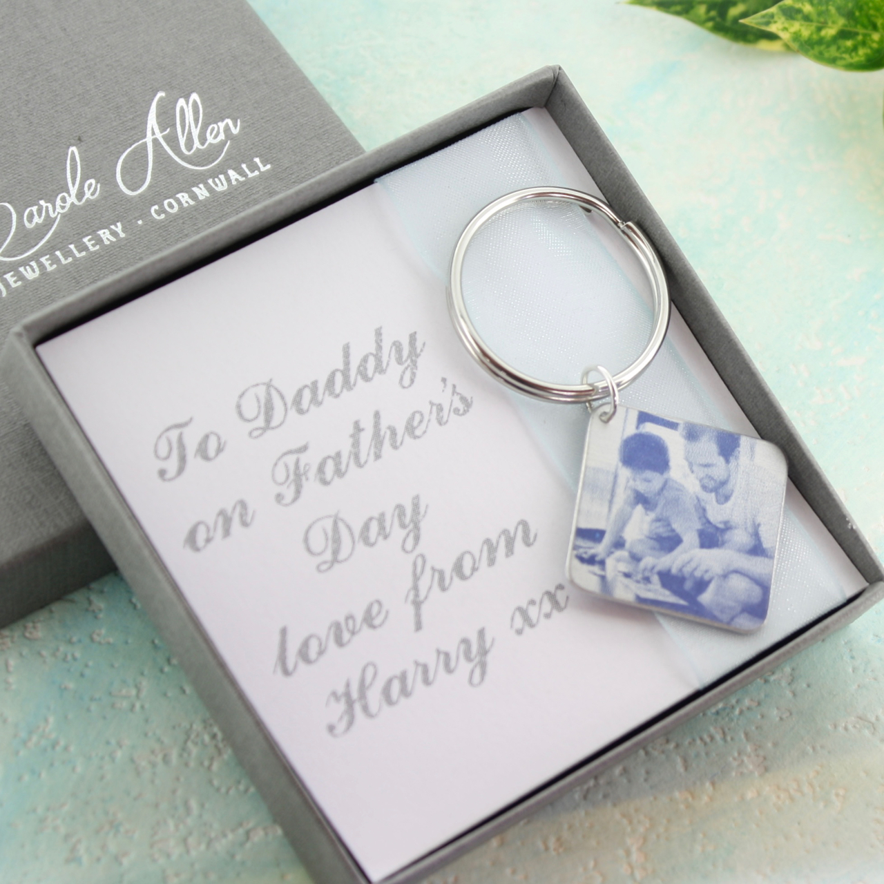 Father's Day personalised keyring