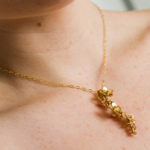 Bride's gold flower necklace