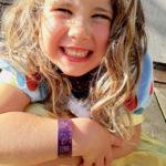 Child's colourful bangle
