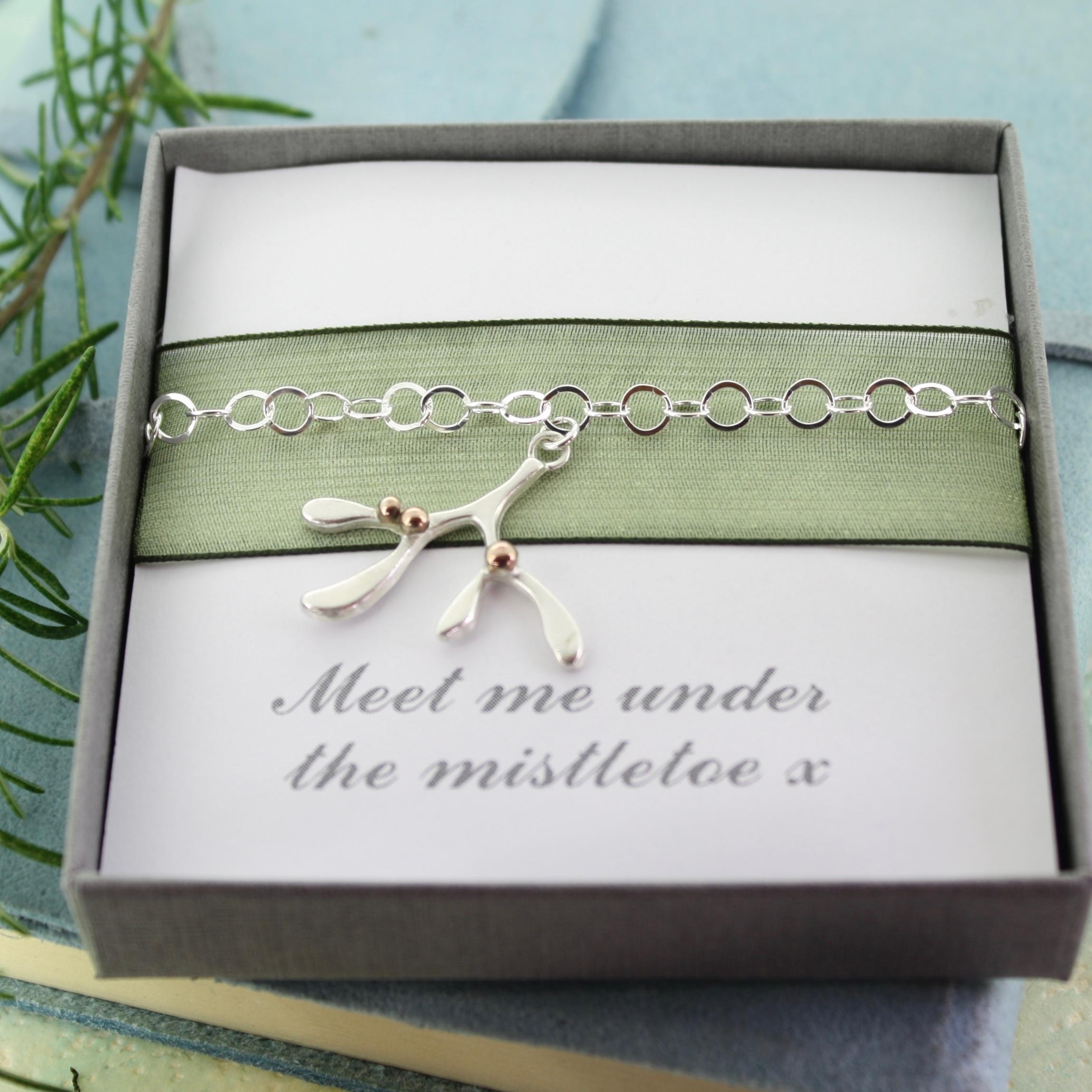 Mistletoe bracelet