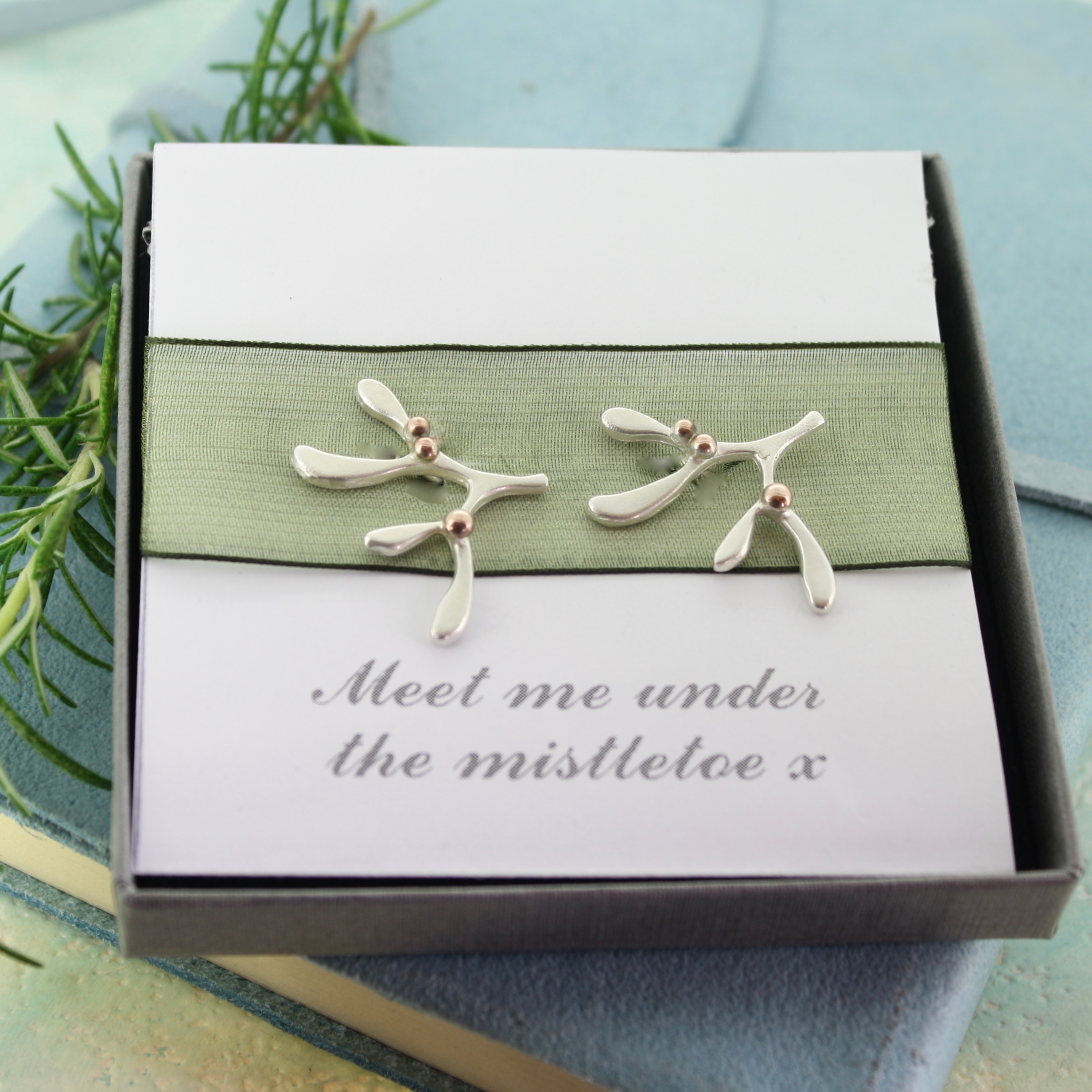 mistletoe cufflinks