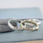 sand cast gold rings