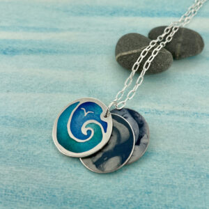 St Ives enamelled photo locket
